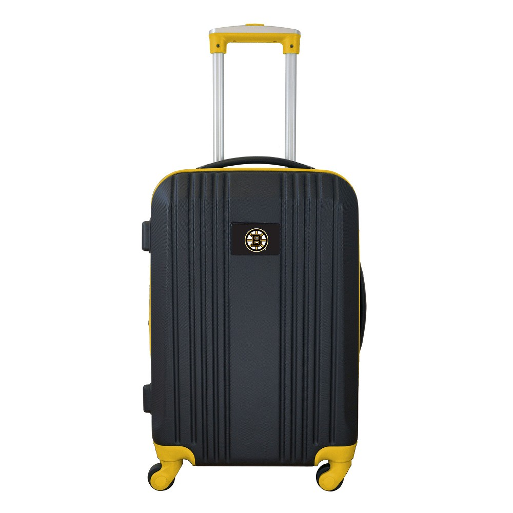 Nhl Boston Bruins 21 Hardcase Two Tone Spinner Carry On Suitcase