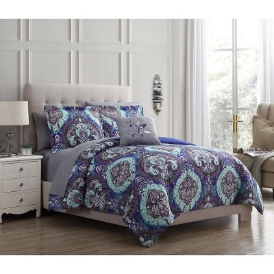 Modern Threads 6-Piece Printed Reversible Complete Bed Set Cathedral.