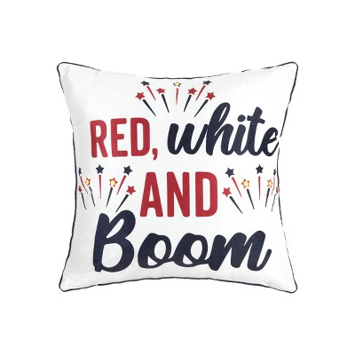C&F Home Red, White And Boom LED July 4th Pillow