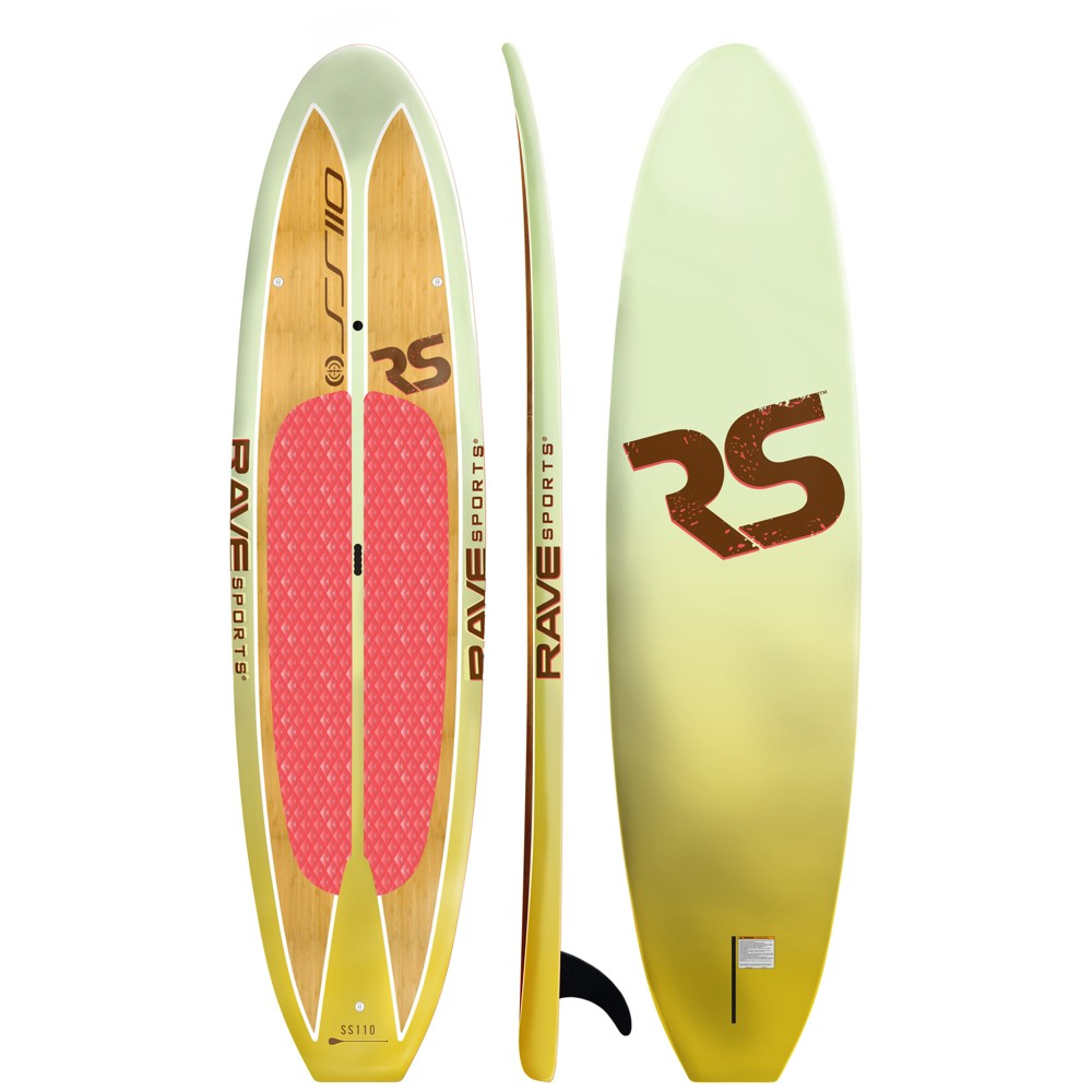 Rave Sports Shoreline Series Paddle Board SS110 Sup, Multi-Colored