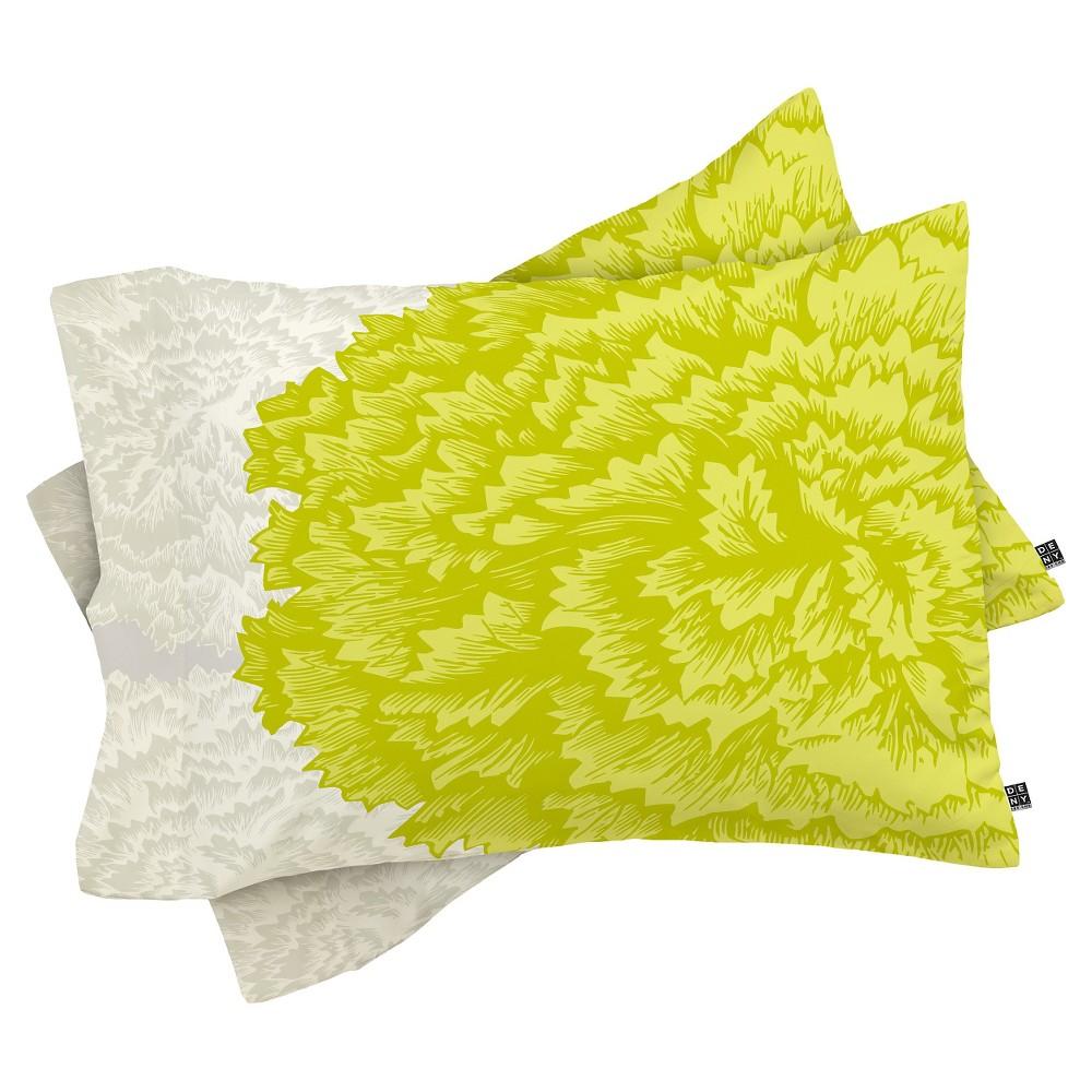 Caroline Okun Lucent Lightweight Pillowcase Standard Lime - Deny Designs