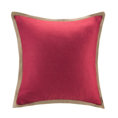 Hayes Stud Trim Micro suede Throw Pillow - image 1 of 2
