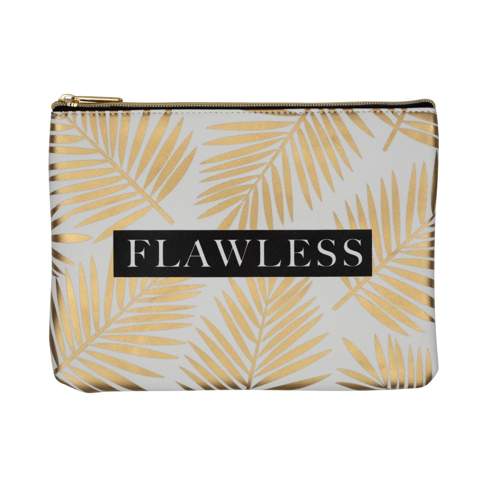 Image of Ruby+Cash Faux Leather Makeup Bag & Organizer - Flawless Palms