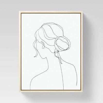 "8"" x 10"" Lady Framed Canvas Black/White - Opalhouse™"