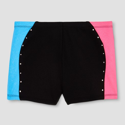 Freestyle by Danskin Girls' Gymnastics Bike Shorts - Black - image 1 of 2