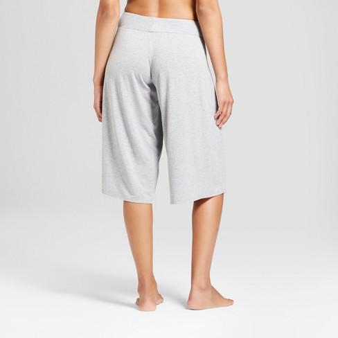 5666d5e504fe7 Women s Wide Leg Crop Pajama Pants - Gilligan   O Malley™ Heather Gray    Target