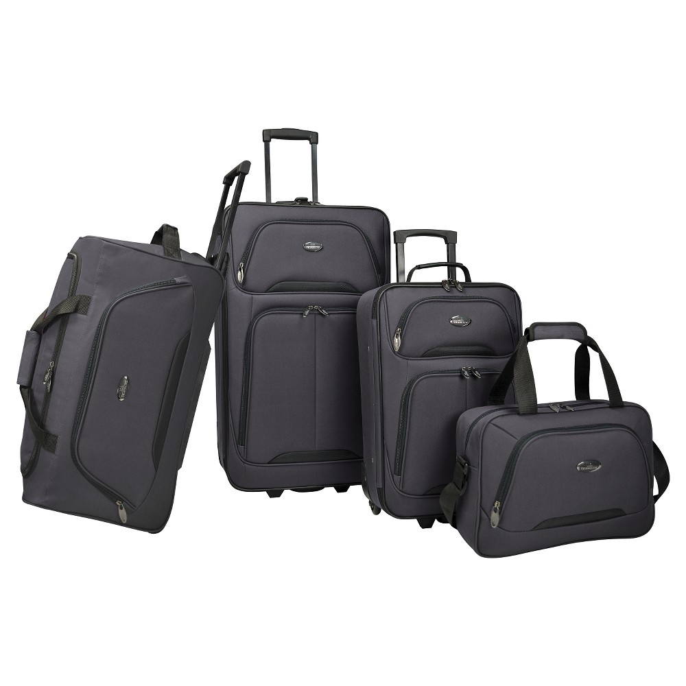 Image of U.S. Traveler Luggage Set - Charcoal, Grey Grey