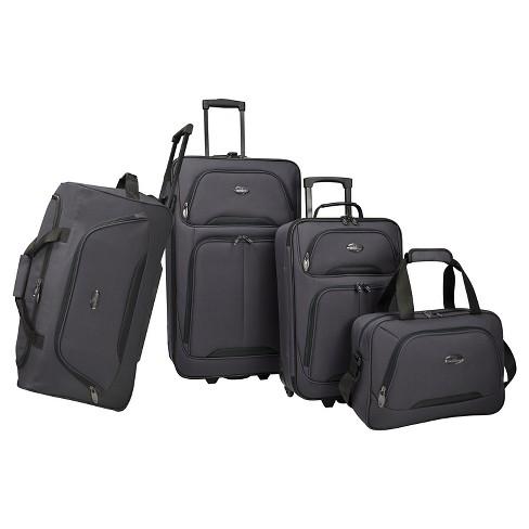 U.S Traveler Vineyard 4pc Softside Luggage Set - image 1 of 2