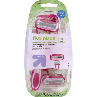 Women's 5 Blade Disposable Razors - up & up™