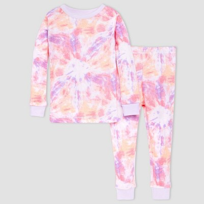 Burt's Bees Baby® Girls' 2pc Tie-Dye Pajama Set - Purple