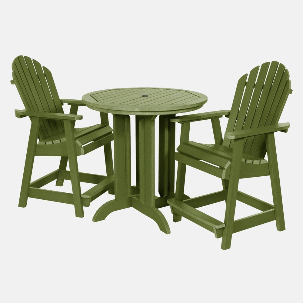 Image of 3pc Hamilton Round Counter Patio Dining Set Dried Sage - highwood, Dried Green