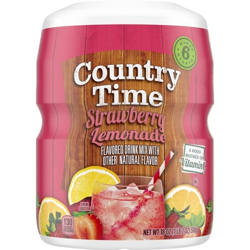 Country Time Strawberry Lemonade Drink Mix - 18oz Canister - image 1 of 4