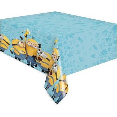 """Minions 2 84""""x54"""" Reusable Tablecover Turquoise"""