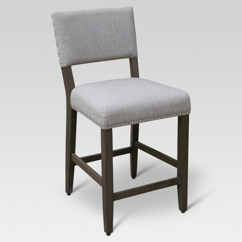 Miraculous Open Back 24 Counter Stool Linen Light Gray Threshold Gmtry Best Dining Table And Chair Ideas Images Gmtryco
