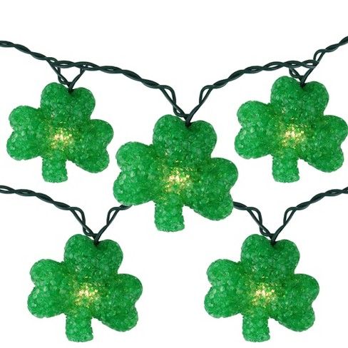 Northlight 10 Green Irish Shamrock St Patrick's Day String Lights - 7.25ft Green Wire - image 1 of 3