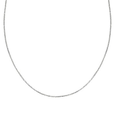 "Sterling Silver Sparkle Chain Necklace - Silver (18"")"