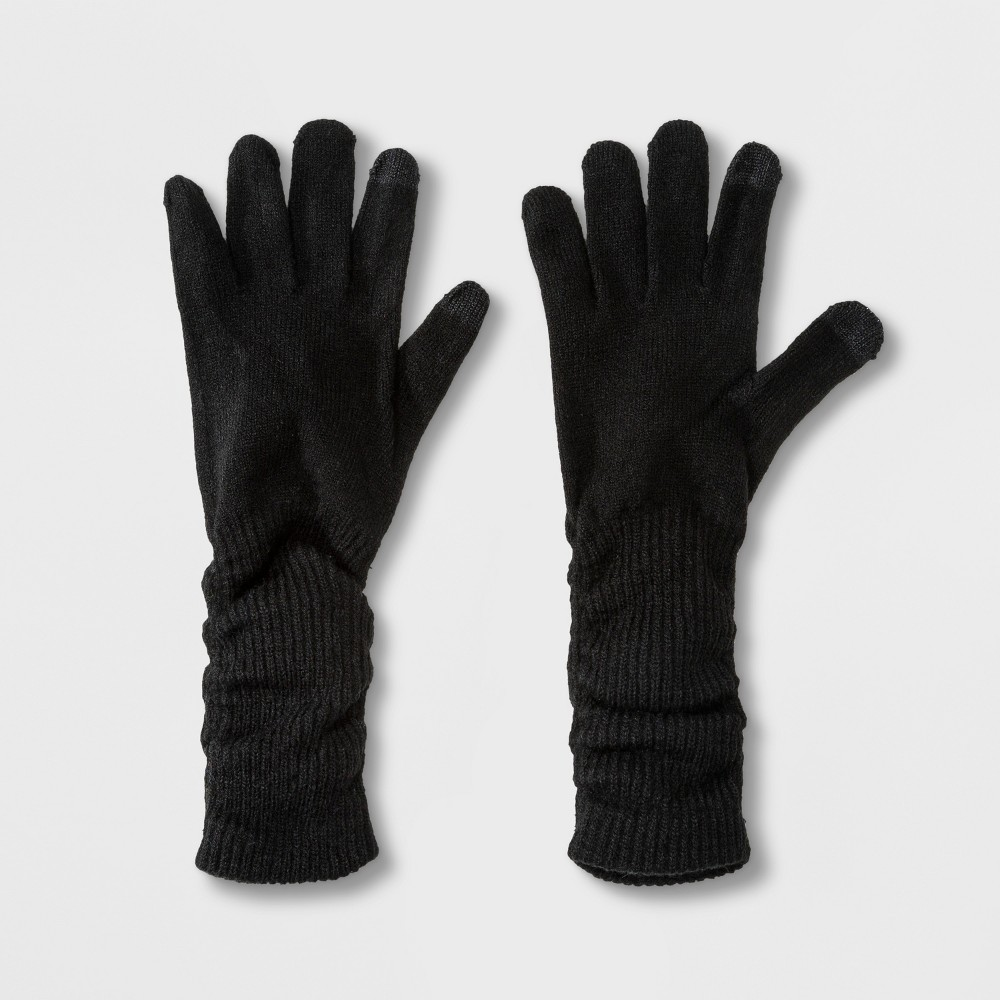 Women's Slouch Tech Touch Gloves - A New Day Black