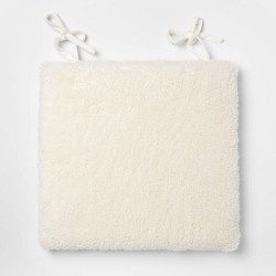 "16.5""x15.5"" Sherpa Chairpad Cream - Threshold™"