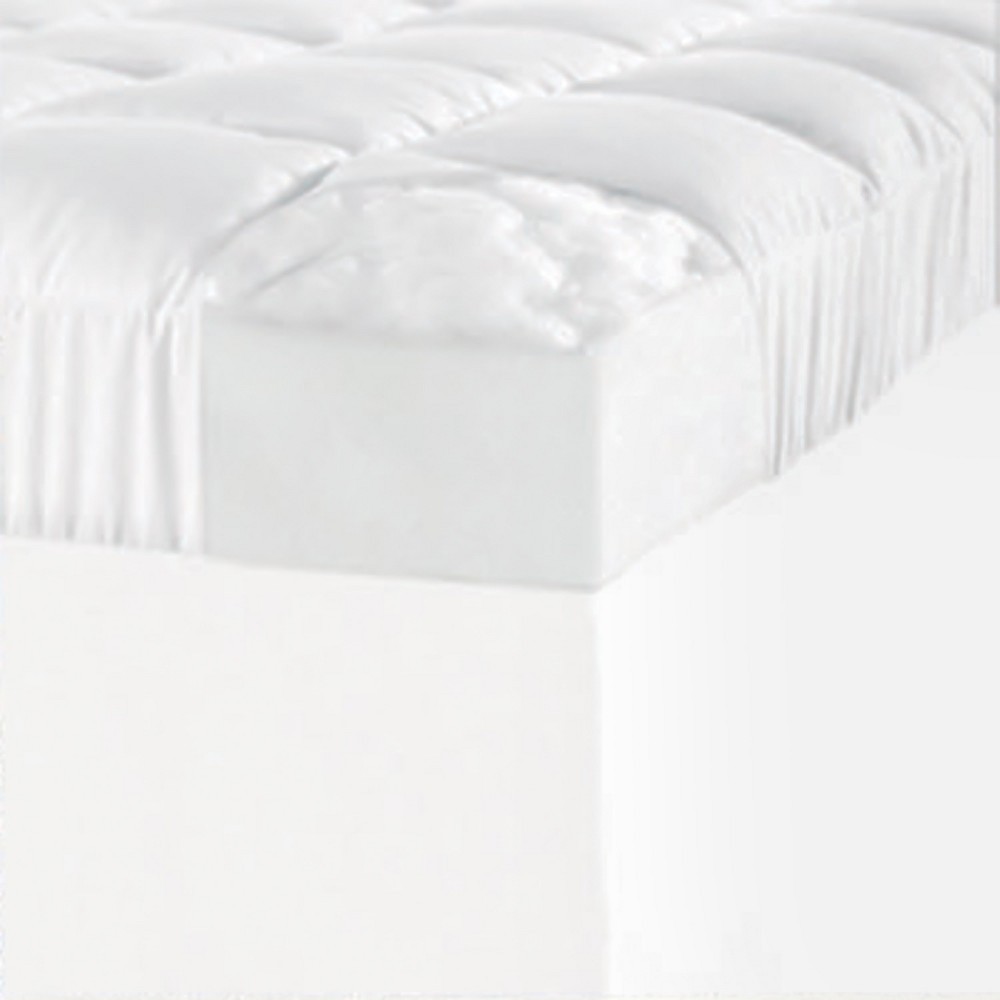 Image of 1.5 Mattress Topper Cover White (King) - ComforPedic Loft