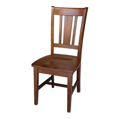 San Remo Splatback Chair Espresso - International Concepts