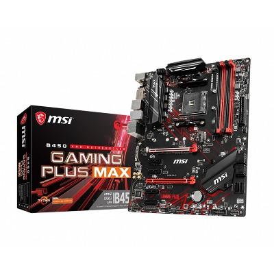 MSI B450 Gaming Plus Max Performance Gaming Motherboard AMD Ryzen 2nd & 3rd Gen AM4 M.2 USB 3 DDR4 DVI HDMI Crossfire ATX