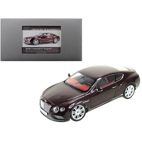 2016 Bentley Continental GT LHD Burgundy 1/18 Diecast Model Car by Paragon - image 1 of 1