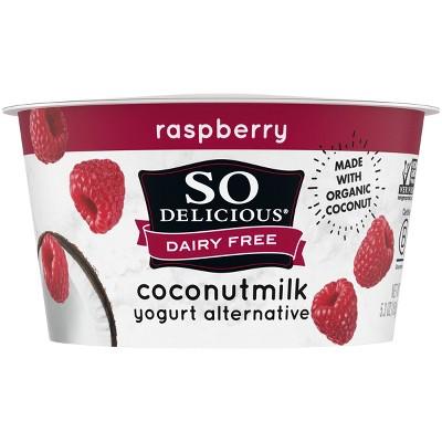 So Delicious Dairy-Free Raspberry CoconutMilk Yogurt Alternative - 5.3oz