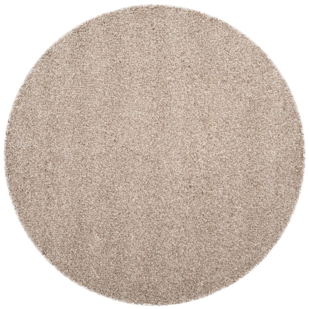 5'3 Solid Loomed Round Area Rug White/Beige - Safavieh