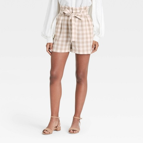 Women's High-Rise Paperbag Shorts - A New Day™ - image 1 of 3