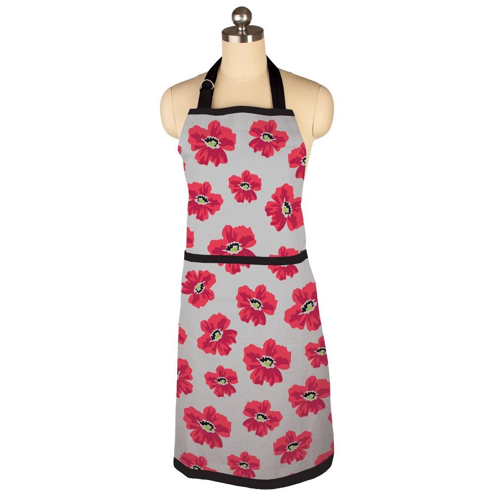 Reviews Poppy Floral Print Apron - MU Kitchen