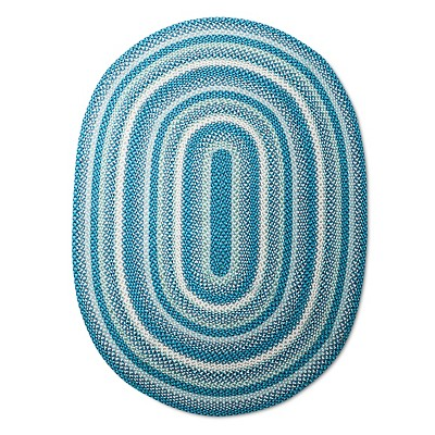 Braided Area Rug (4'x6')Blue - Pillowfort™