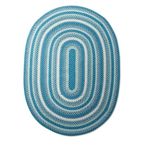 Braided Area Rug 4 X6 Blue