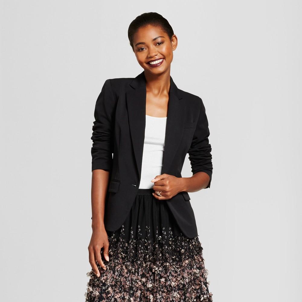 Women's Bi-Stretch Twill Blazer - A New Day Black 2