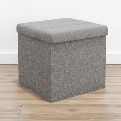 Foldable Square Storage Ottoman with Channel Tufting - Brookside Home