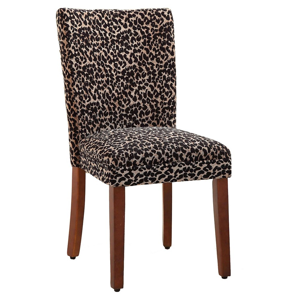 Set of 2 Parsons Pattern Dining Chair Wood Cheetah - HomePop was $204.99 now $153.74 (25.0% off)