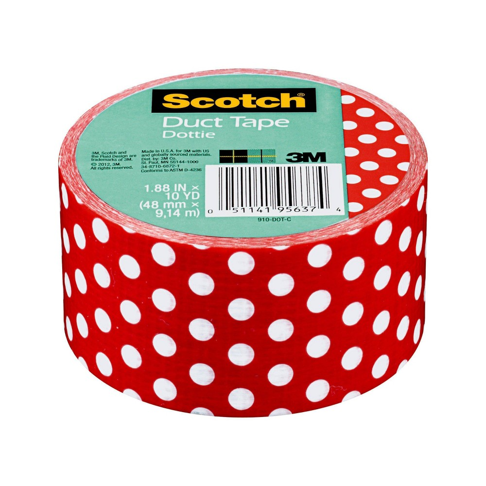 "Image of ""Scotch Duct Tape 1.88"""" x 10 yd - Dottie, Blue"""