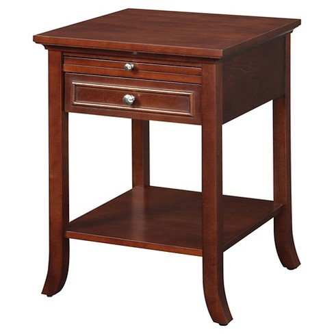 American Heritage Logan End Table with Drawer and Slide - Mahogany - Convenience Concepts - image 1 of 3
