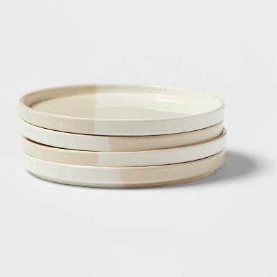 """8"""" 4pk Stoneware Catlett Plates White - Threshold™"""