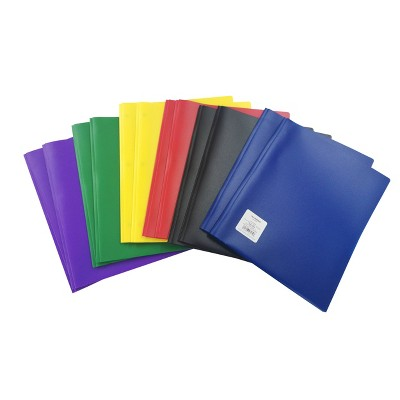 12pk Plastic Filing Portfolio with Prongs Multicolored - up & up™
