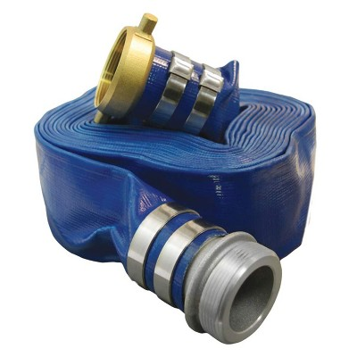 Apache 98108806 75 Foot Industrial Rubber Garden Water Hose with Brass Fittings