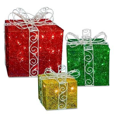 9 ,12 & 15  Sisal Lit Gift Box Set