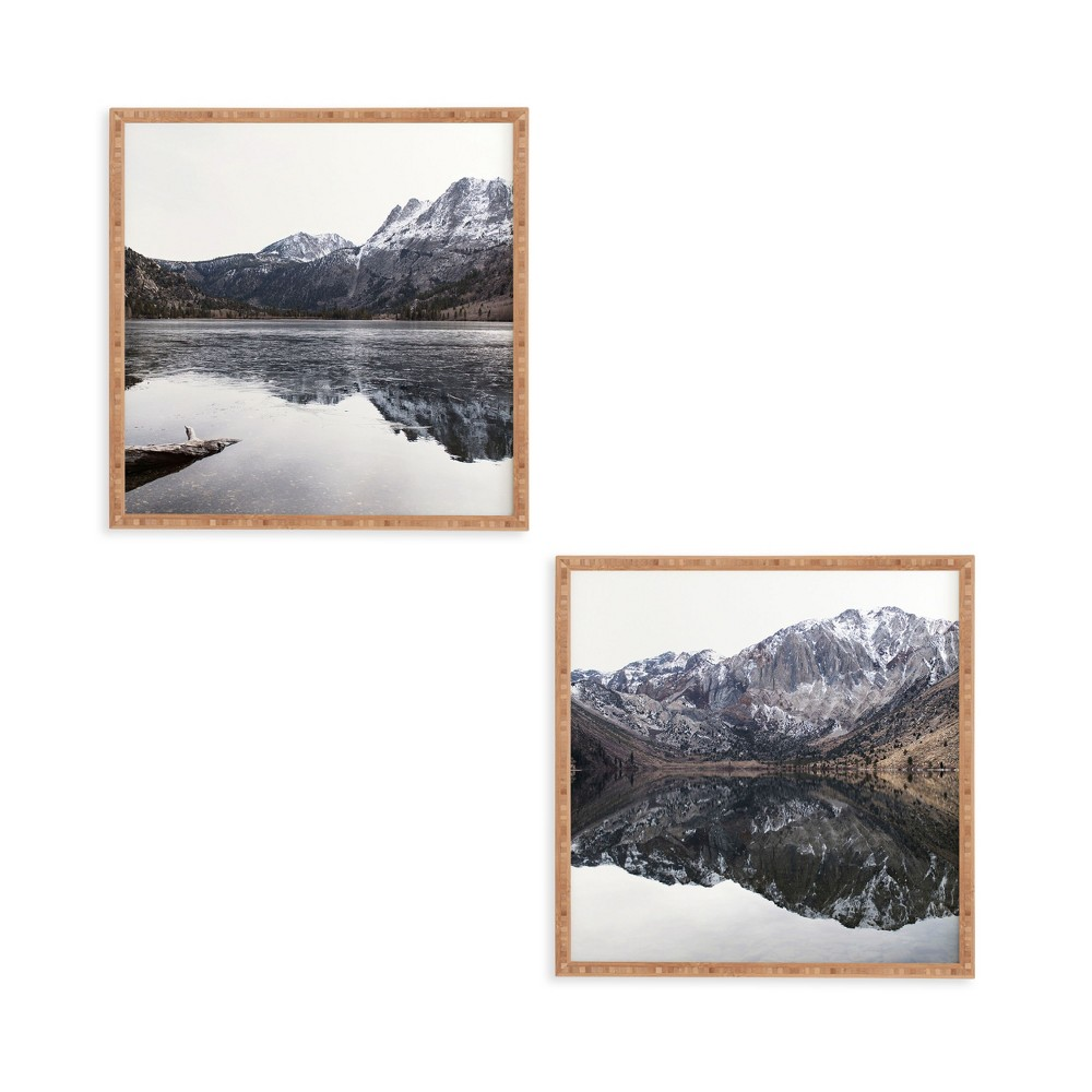 "Image of ""12""""x12"""" 2pc Reflective Framed Decorative Wall Art Set Black - Deny Designs"""