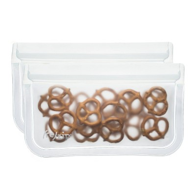 (re)zip Leak-proof Clear Reusable Storage Snack Bag - 2ct