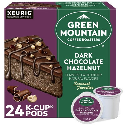 Green Mountain Coffee Roasters Dark Chocolate Hazelnut Dark Roast Coffee - Single Serve Pods - 24ct