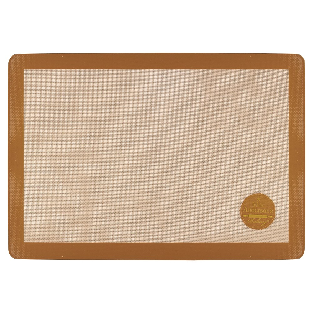Mrs. Anderson's Silicone Full-Size Baking Mat, Basic Tan/Apricot Juice