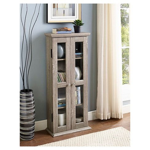 "41"" Wood Media Storage Tower Cabinet - Saracina Home - image 1 of 4"
