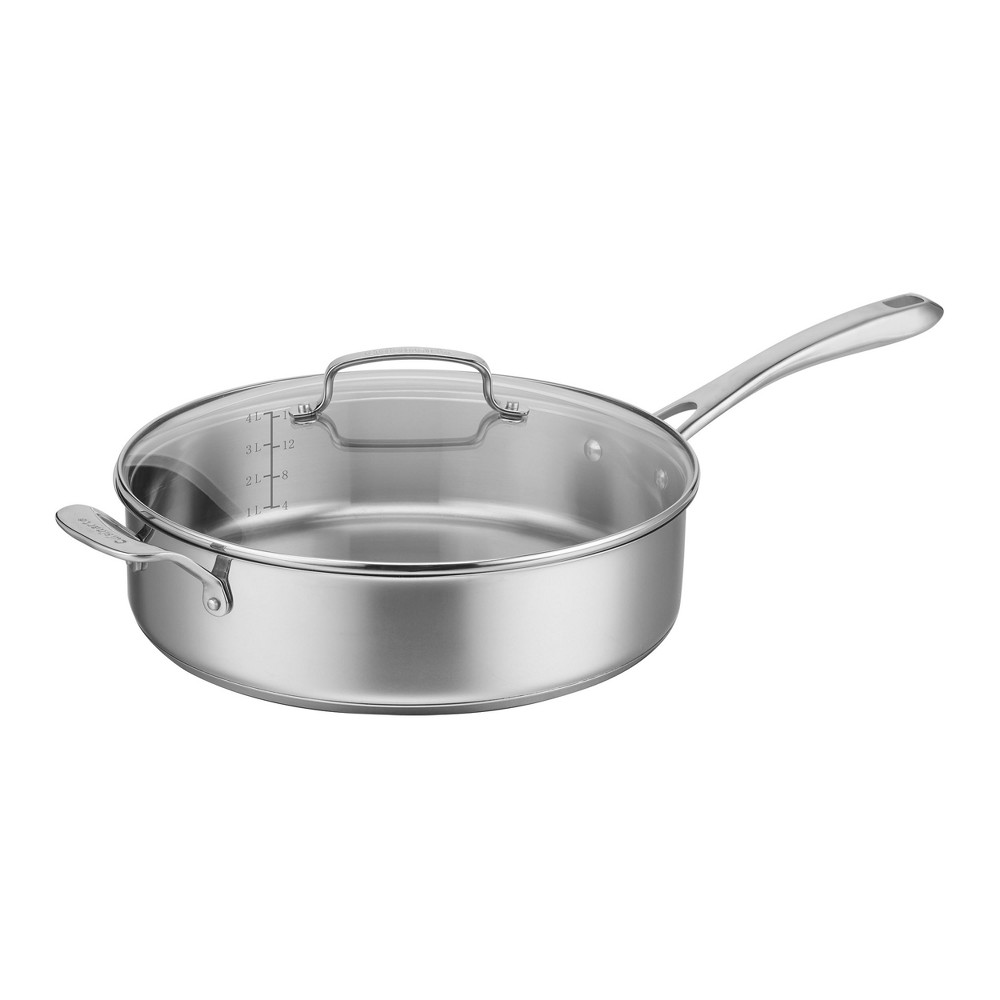 Cuisinart Classic Stainless 5.5qt Saute Pan With Helper and Cover, Silver