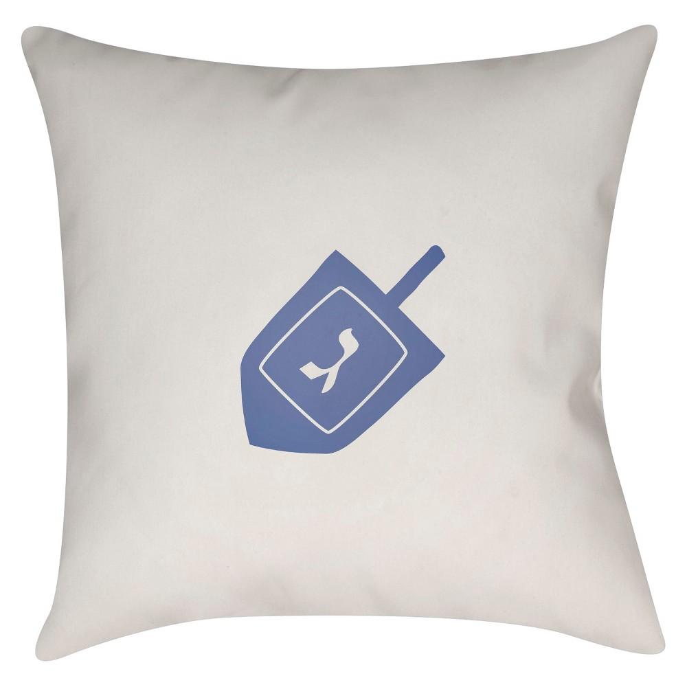 White Dreidel Throw Pillow 18