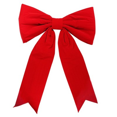 """Northlight 64"""" Red Solid Commercial Bow Outdoor Christmas Decor"""