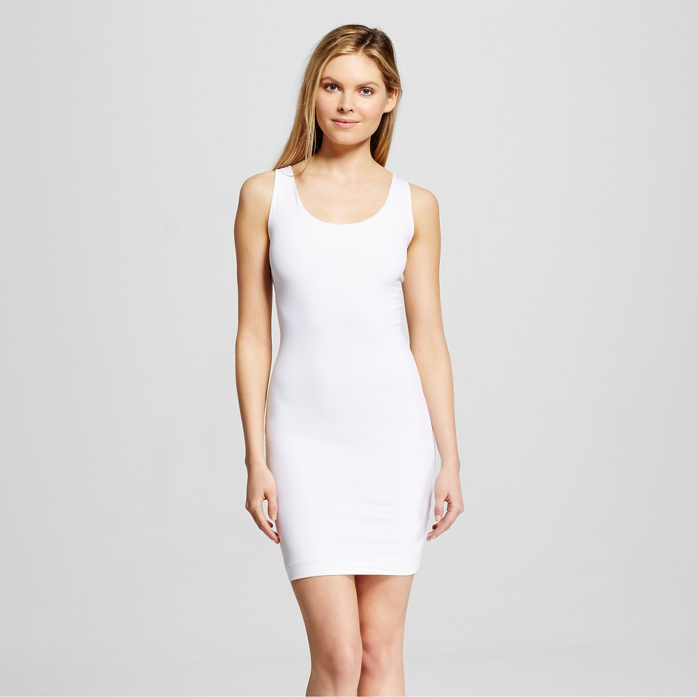 Assets by Spanx Women's In or Out Shaping Full Slip - White L